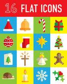 Christmas flat icon — Vector de stock