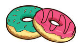 Donut illustration — Stock Vector