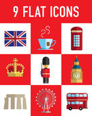 England flat icon — Stock Vector