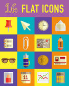 Set of business flat icon — Stock Vector