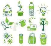 Go green concept icon — Stock Vector