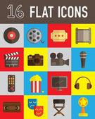 Movie flat icon — Stock Vector