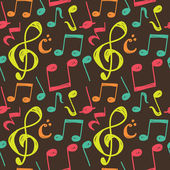 Music note background — Stock Vector