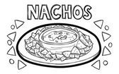 Nachos — Stock Vector