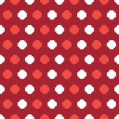 水玉ピクセル パターン — ストックベクタ