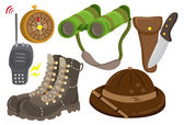 Safari equipment — Stock Vector