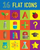 School flat icon — Vector de stock