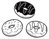 Set of donut — Stock Vector