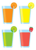フルーツ ジュースのセット — ストックベクタ