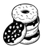 Stack of donut — Stock Vector
