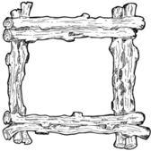 Wood frame — Stock Vector