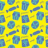 Gift box pattern — Stock Vector