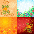 Set abstract floral backgrounds — Stock Photo #11910496
