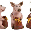 Royalty-Free Stock Photo: Toy pigs with a bags of money