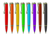 Set of multicoloured pens — Stock Photo
