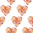 Stock Photo: Seamless, hearts from leaves