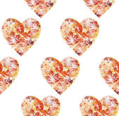 Seamless, hearts from leaves — Stock Photo