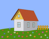 House on a meadow — Stock Photo