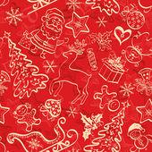 Kerstmis naadloze achtergrond — Stockfoto