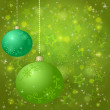 Christmas background with balls and stars — Stock Photo