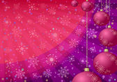 Christmas background with balls and snowflakes — Stock Photo