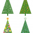 Christmas trees with patterns — Stock Photo