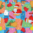 Christmas seamless background - Stock Photo