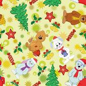 クリスマスのシームレスな背景 — ストック写真