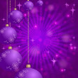 Christmas background with balls and stars — Stok fotoğraf
