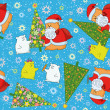 Stock Photo: Christmas seamless background