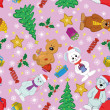 Christmas seamless background — Stockfoto