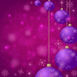 Royalty-Free Stock Photo: Christmas background with balls and snowflakes