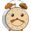 Cartoon alarm clock — Stock Photo