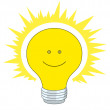 Bright electric bulb — Stockfoto