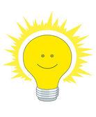 Bright electric bulb — Stock Photo