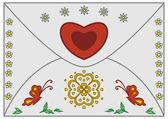 Obálka valentine — Stock fotografie