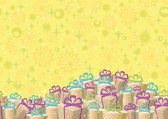 Holiday gift boxes, background — Stock Vector