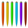 Set of multicoloured felt-tip pens — 图库照片