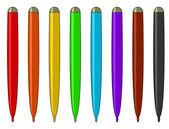 Conjunto de canetas de feltro multicolores — Foto Stock