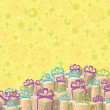 Holiday gift boxes, background — Foto de Stock