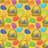 Seamless, basket with Easter eggs — Stock Photo