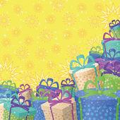 Boîtes de cadeau de vacances, fond — Photo