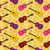 Seamless background, guitars — Stock Photo