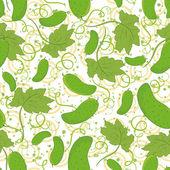 Seamless pattern, cucumbers — Stock Vector