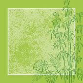Exotické rostliny, pozadí — Stock fotografie