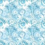 Seamless exotic ocean pattern — Stock Photo