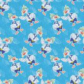 无缝、 卡通鹅潜水员 — 图库矢量图片