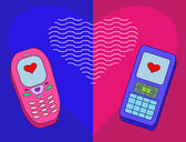 Mobile phones-enamoured — Stock Photo