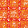 Christmas seamless background — Zdjęcie stockowe