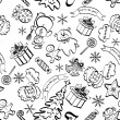 Christmas seamless pattern, contour — Stock Photo